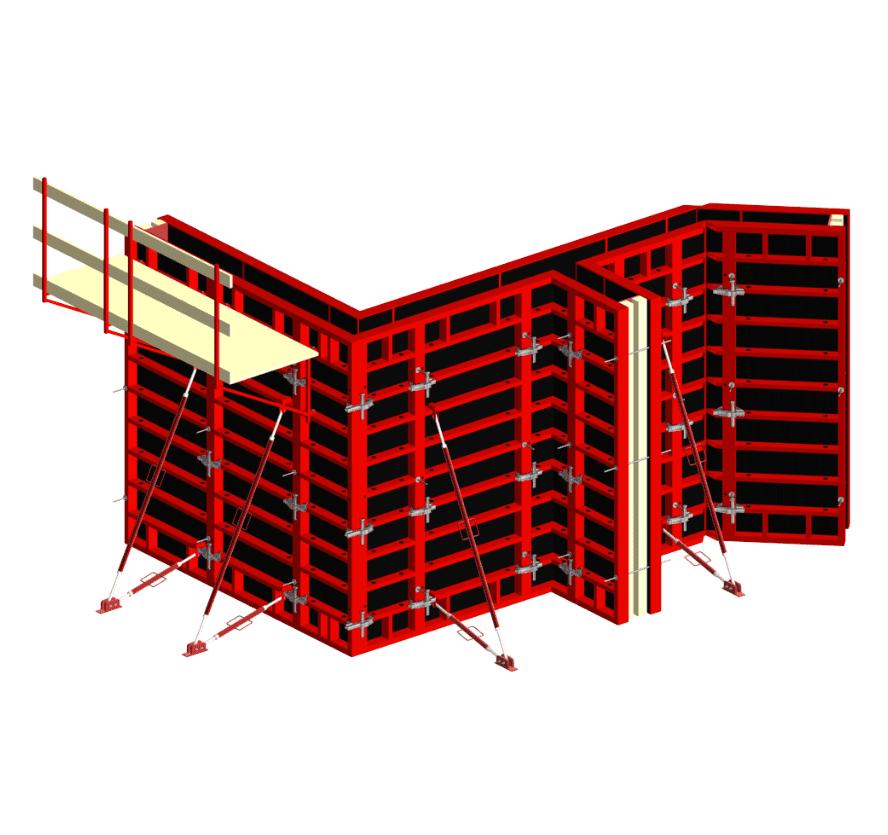 Стальной линейный опалубочный щит, шириной 0,2-0,7 м бу