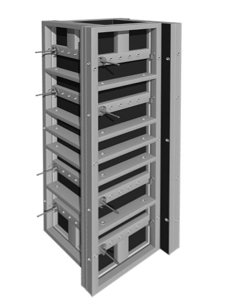 Алюминиевый универсальный опалубочный щит 3000x750