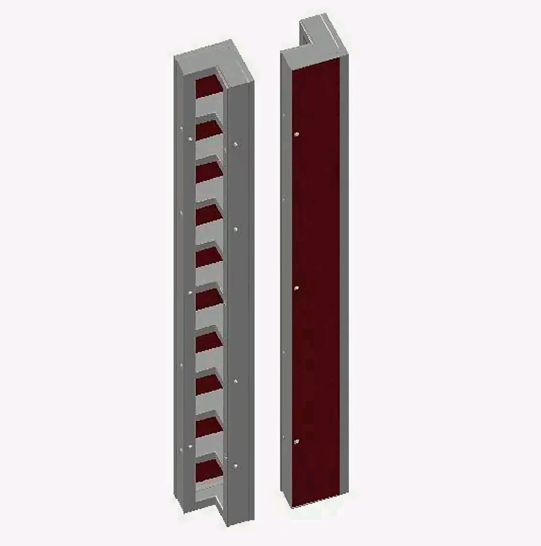 Щит угловой внутренний 0,3x0,3x3,3